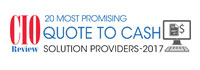 20 Most Promising Quote To Cash Solution Providers 2017